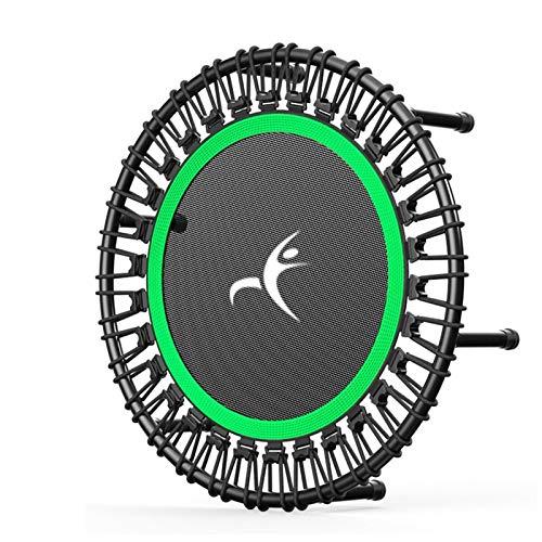 Lamyanran Trampolin Brincolin para Niños y Adultos Inicio Inicio Indoor y al Aire Libre Trampolín Gimnasio No Plegable Cuerda Elástica Salto Trampolín Regalo (Color : Green 32 Inch)