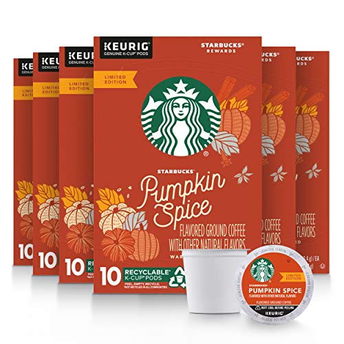 Starbucks Pumpkin Spice K-Cup Coffee Pods 60-Count Now $24.98 (Was $56.65)