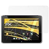 atFolix Panzerfolie kompatibel mit HP ElitePad 1000 G2 Schutzfolie, entspiegelnde & stoßdämpfende FX Folie (2X)