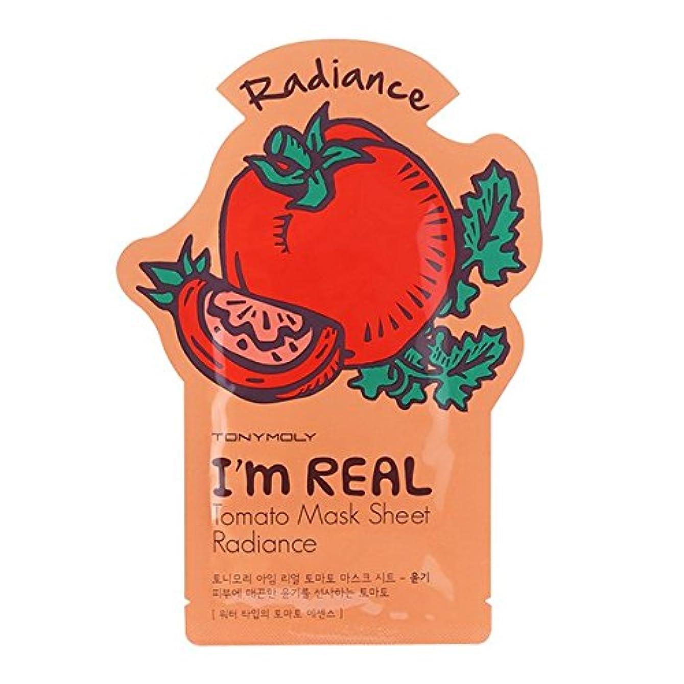 損失些細な仕立て屋トニーモリー I'm Real Mask Sheet - Tomato - Radiance 10x21ml/0.71oz