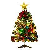 Pequeño árbol de Navidad,50cm Árbol Artificial de Navidad con luz led para decoración...