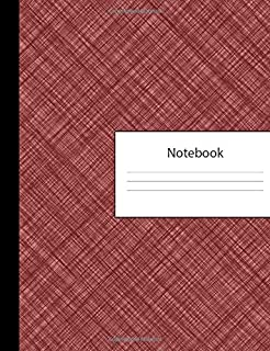Notebook: 300 Page Pitman Shorthand Ruled Lined Steno Crosshatch Burgundy Red Composition Shorthand Writing Pad & Teeline Journal | Lists Office ... Organizer for College University | Notepad