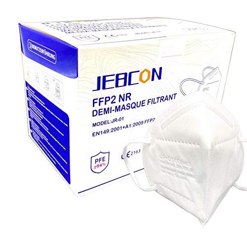 [40 Stück] FFP2 Maske ce Zertifiziert, CE 2163 EN 149 Schutzmaske, EU CE Zertifizierte Mund- und Nasenschutz nach EN149:2001+A1:2009, Atemschutz hohe Filtration, Partikelfiltermaske