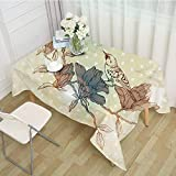 XXDD Mantel de Comedor Rectangular de búho de Dibujos Animados Impreso Cubierta de Mesa de Fiesta Alfombra Ropa Anti-escaldado Anti-Aceite decoración del hogar A3 140x140cm