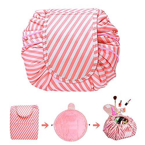 Trousse de Maquillage Trousse de Toilette Voyage Taille Articles De Toilette Cosmétique Pochettes pour Les Femmes Voyage Sac de Lavage Pink