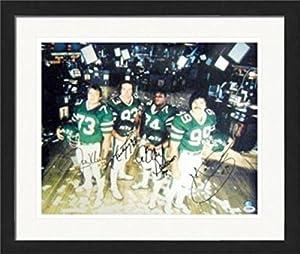 Mark Gastineau, Abdul Salaam, Joe Klecko, Marty Lyons The Sack Exchange New York Jets autographed 16x20 photo (PSA Authenticated) #2 Matted & Framed
