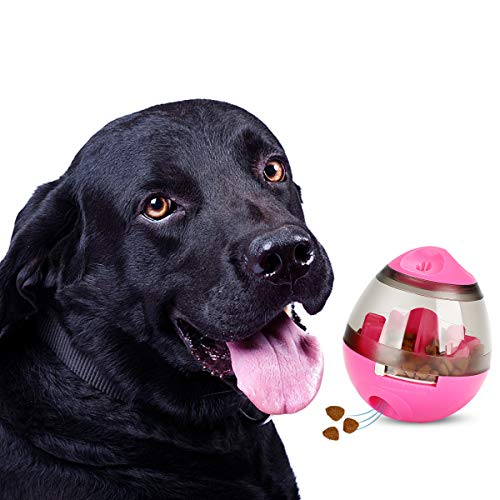 STAJOY Dispensador interactivo de comida de juguete para perros Treat Ball (PINK)