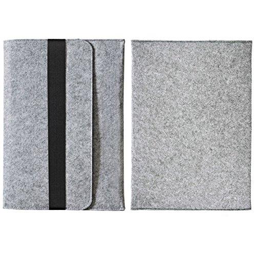 Alienwork Schutzhülle für iPad Mini 1/2/3/4 Tragetasche Hülle Hülle Tasche Etui Sleeve Outdoor Filz grau ADM18-02