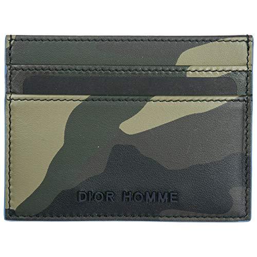 Prada porta carte di credito portafoglio uomo pelle verde