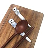 The Elixir Deco Premium Handmade Ceramic Cute Eurasian Otter Spoon Chopsticks Rest Fork Knife Holder Tableware Silverware Holder Stand