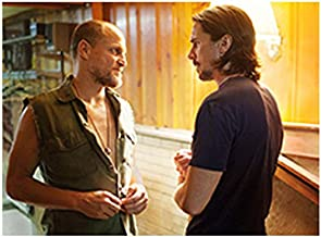Out of the Furnace 8Inch x 10Inch on set photo of Woody Harrelson & Christian Bale facing each other ed