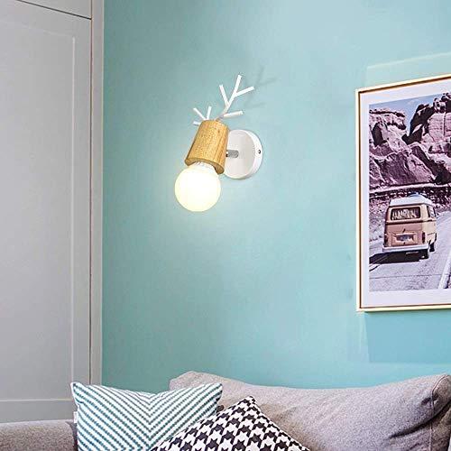 Wandlamp wandlamp van kristalglas spiegel wandlamp voor kinderen verlichting nachtkastje persoonlijkheid creatieve kop Wit