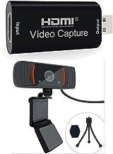 Webcam and HDMI to USB Video Capture Card to Set Up Livestream Console