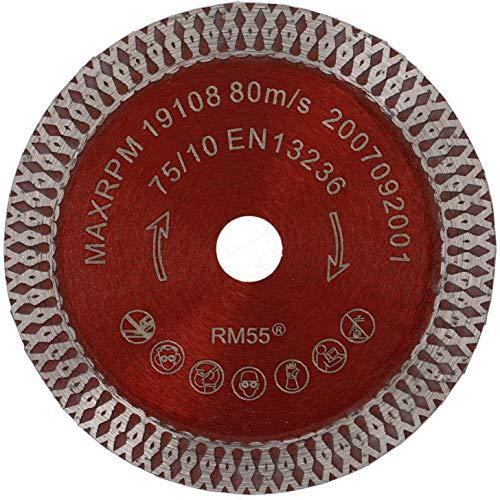 PRODIAMANT Diamant-Trennscheibe Fliese Turbo 75 mm x 10 mm Diamanttrennscheibe passend für BOSCH GWS 10,8-76 V-EC Professional 76mm