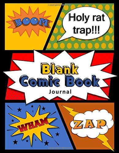Blank Comic Book Journal: DIY Comic Book Notebook with Black Borders