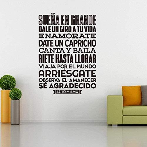 Pegatinas de vinilo español para pared pegatina Mural arte de pared papel tapiz de azulejos para sala de estar decoración del hogar y la casa 57x80cm