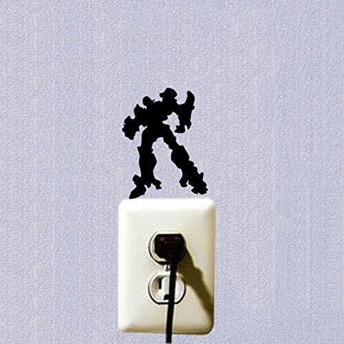 LOESHD 3 pcs/Set Aufkleber wechseln Cartoon DIY 3D Wandaufkleber für Kinderzimmer Transformatoren für Wandaufkleber Schlafzimmer Wohnkultur Wohnzimmer
