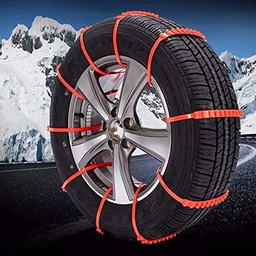 Cadenas de Nieve de Montaje rápido Cadenas Antideslizantes automáticas Cadenas de neumáticos de Nieve automáticas Ajustables para el Ancho de los neumáticos automáticos 14-24 Pulgadas