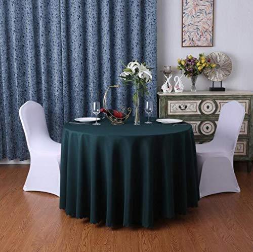 EDCV tafelkleed effen kleur ronde tafelkleed decoratie voor thuis thuis tafelkleed bruiloft hotel hotel banket decor tafelkleed, donkergroen