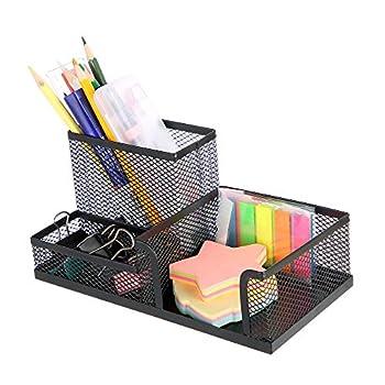Toysdone Pen Holder Mesh Pencil Holder Metal Pencil Holders Pen Organizer Black for Desk Office Pencil Holders