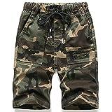 Idgreatim Pantalones cortos de camuflaje para niños con estampado militar militar de camuflaje,...