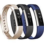 Tobfit For Fitbit Alta HR Bands and Fitbit Alta bands (3 PACK), Replacement Sport Wristbands with Metal Buckle for Fitbit Alta HR/Fitbit Alta