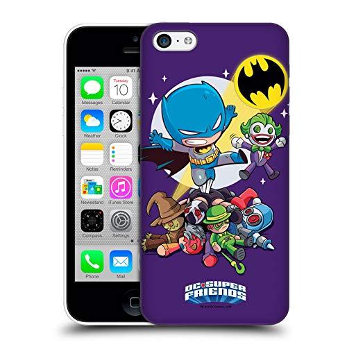 Head Case Designs Officiel Super Friends DC Comics Batman Jeunes Enfants Art Composé Coque Dure pour l'arrière Compatible avec iPhone 5c