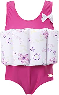 Floatation Swimsuits with Adjustable Buoyancy for 1-10 Years Baby Girls
