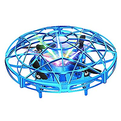 Jsdoin UFO Mini Drone, Kids UFO Drone Toy Hand Helicopter RC Quadcopter Infrared Induction Remote Control Flying Aircraft Games Gifts for Boys Girls Adults Indoor Outdoor Garden Ball Toys