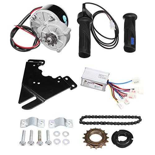C-FUNN Kit De Controlador De Motor De Scooter De Conversión De Bicicleta Eléctrica De 24 V 250 W para Bicicleta Ordinaria De 20-28 Pulgadas