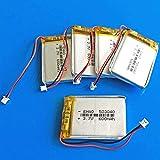 Batería de 3.7V 600mAh 503040 Batería Recargable de polímero de Litio JST 1.25mm 2pin para cámara de DVD MP3 GPS PSP Bluetooth electronics-10PCS-5 Piezas