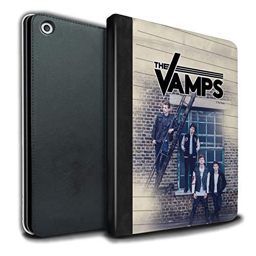 The Vamps PU Pelle Custodia/Cover/Caso Libro per Apple iPad 9.7 2018/6th Gen Tablet/Diario Servizio Fotografico Disegno