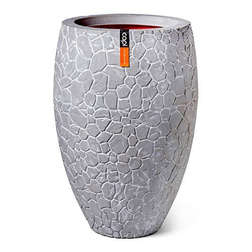 "Capi Europe Pflanzvase ""Clay Elegant"" in Hellgrau D 56 x H 84 cm"