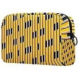 Bolsa de cosméticos portátil de viaje bolsa de almacenamiento impermeable, sandías y hojas de palma