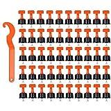 Sistema De Nivelación De Baldosas 100 Herramientas Piezas Reutilizables Azulejos Espaciadores Nivelador De Bricolaje para La Pared del Edificio De Planta