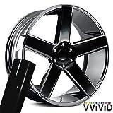 VViViD Auto Rim Air-Release Adhesive Vinyl Wrap 24 Inch x 30 Inch 4 Sheet Pack (Gloss Black)
