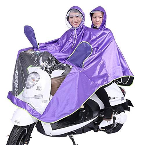 C-FUNN Waterdicht Dubbele Persoon Poncho Regenjas Regenjas Motorfiets Scooter Regen Cape Paars