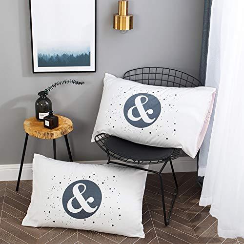 KZYV Funda de Almohada Algodón Tiras Negras Imprimir Patrón Creativo Hogar Sala de Estar Dormitorio Cama Sofá Decoración de Arte Funda de Almohada