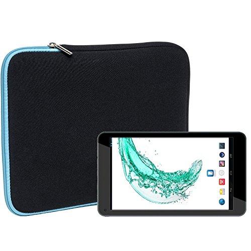 Slabo Tablet Tasche Schutzhülle für Odys Mira (7 Zoll) Hülle Etui Hülle Phablet aus Neopren – TÜRKIS/SCHWARZ