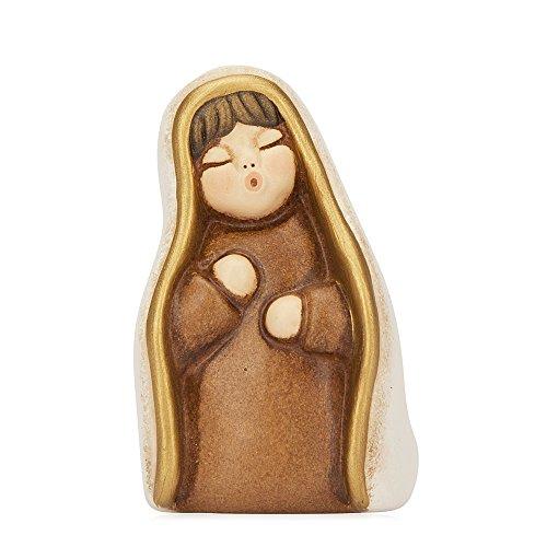 THUN® - Vergine Maria - Versione Bianca - Statuine Presepe Classico - Ceramica - I Classici