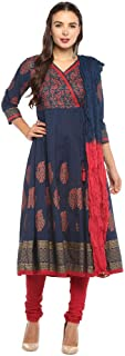 STOP By Shoppers Stop Womens V Neck Paisley Print Churidar Suit