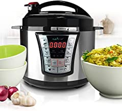 NutriChef Electric Pressure 5 Quart Programmable Multi-Cooker with Digital Display | R Accessory, 5 Qt Capacity, Stainless Steel