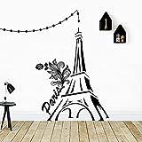 Lindo papel tapiz de torres gemelas decoración del hogar pegatinas de pared calcomanías para habitación de niños pegatinas creativas A6 42x53cm