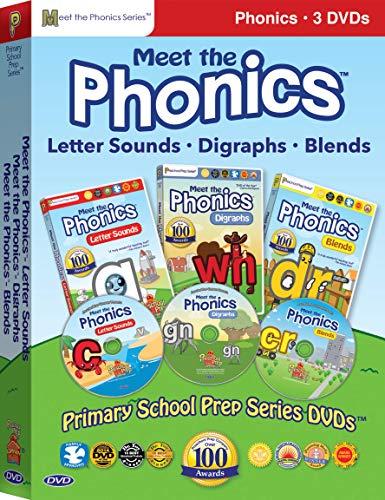 Meet the Phonics - 3 DVD Boxed Set (Meet the Letter Sounds, Meet the Digraphs & Meet the Blends)