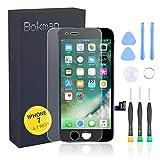 bokman schermo display lcd per iphone 7 nero, touch screen digitizer parti di ricambio con strumenti di riparazione