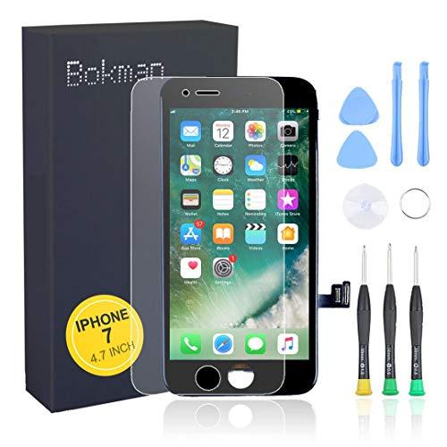bokman voor iPhone 7 Scherm LCD Touchscreen Display Montage voorpaneel met benodigde gereedschapsset, Zwart