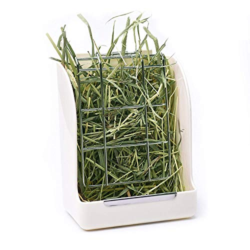 Price comparison product image CalPalmy Hay Feeder / Rack - Ideal for Rabbit / Chinchilla / Guinea Pig - Keeps Grass Clean & Fresh / Non-Toxic,  BPA Free Plastic / Minimizing Waste / Mess