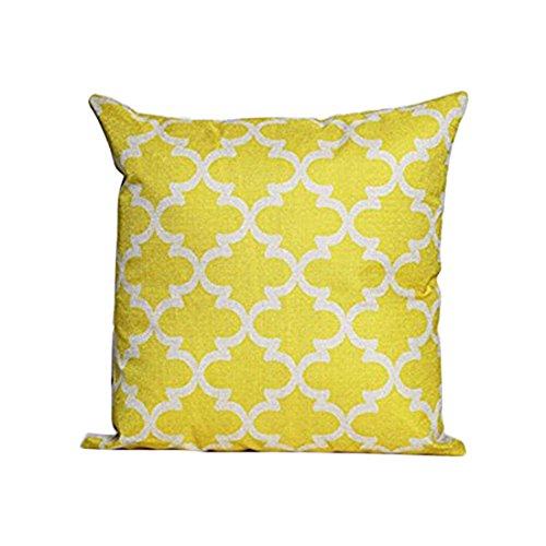 Demarkt Pillow Cushion Pillow/Cushion Cover, 45* 45cm Red, Cotton, yellow, 45*45cm
