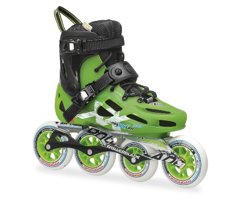Rollerblade Inlineskate Maxxum 100, Black/Acid Green, 37, 07367000 9C5
