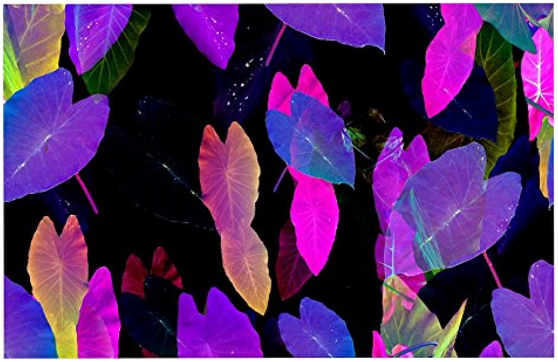 KESS InHouse Fernanda Sternieri Fluo Jungle Purple Black Decorative Door, 2' x 3' Floor Mat